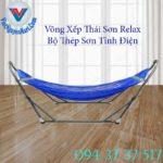 1, Võng Xếp Thái Sơn Relax Thép Sơn Tĩnh Điện