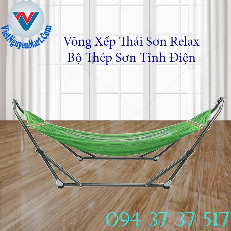 Võng xếp Thái Sơn Relax Thép Sơn Tĩnh Điện cao cấp