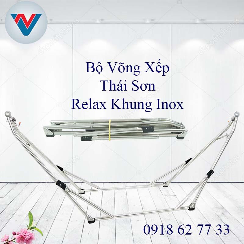 Võng Xếp Thái Sơn Bộ Relax khung Inox
