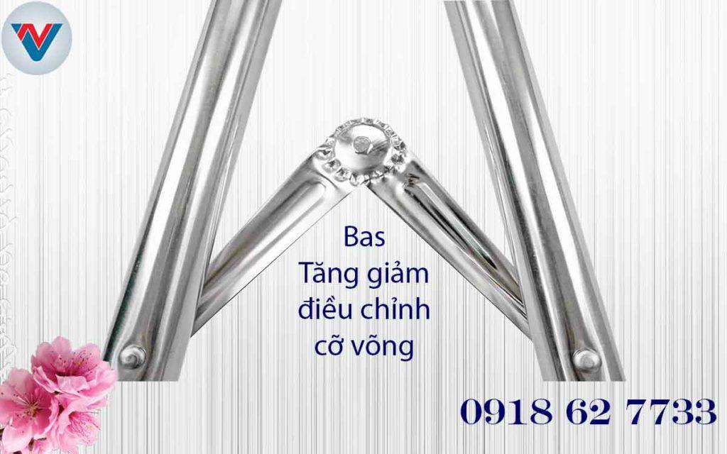 bas xếp tăng giảm điều chỉnh kích cỡ khung võng Thái Sơn giá rẻ