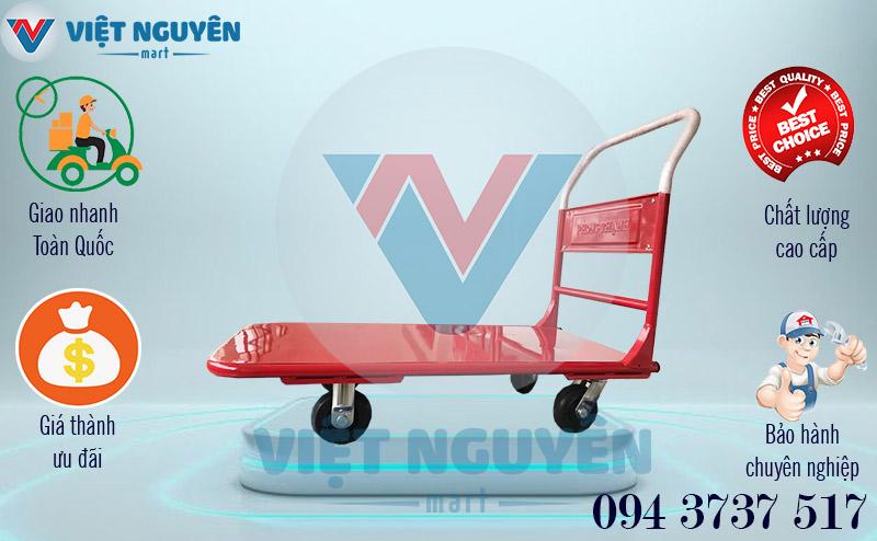 Ưu điểm khi mua xe đẩy hàng 4 bánh 300kg Phong Thạnh XTH 130T tay cố định tại Việt Nguyên