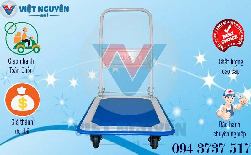Chính sách bán xe đẩy hàng 4 bánh 150Kg Phong Thạnh XTB 100D chính hãng giá tốt