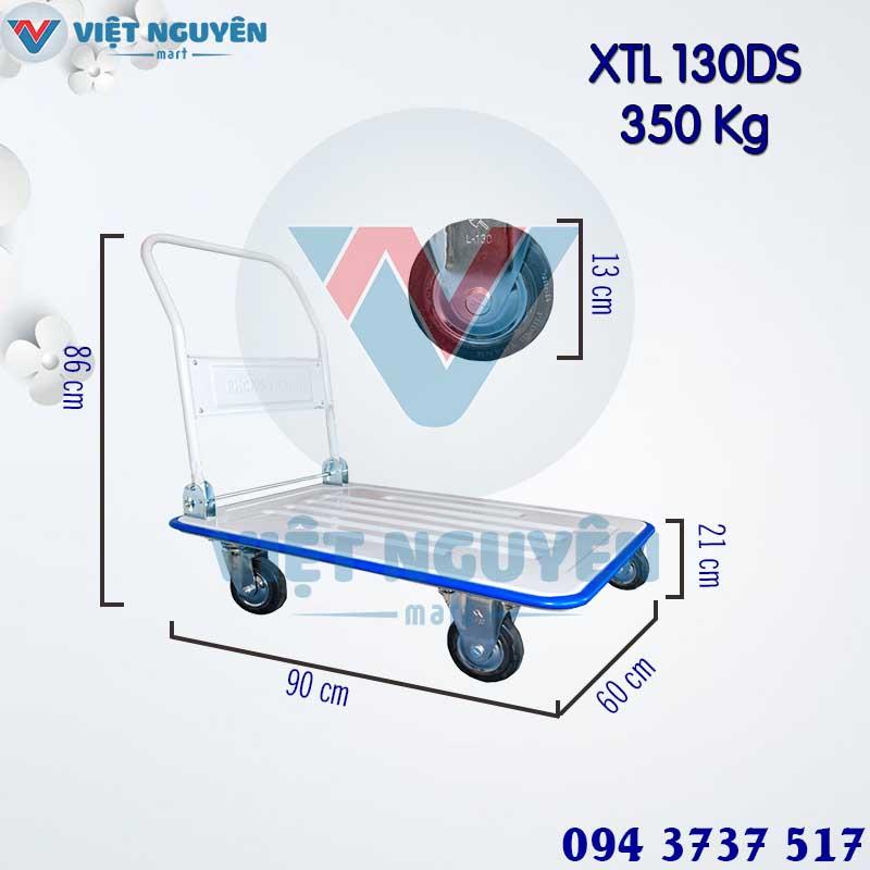 Kích thước sử dụng xe đẩy hàng 4 bánh 350kg XTL 130DS Phong Thạnh