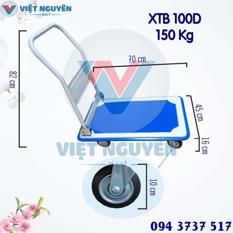 Thông Số Kỹ Thuật Xe đẩy 150Kg 4 bánh Phong Thạnh XTB 100D
