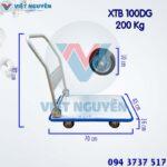 Kích thước xe đẩy hàng 4 bánh 200KG XTB 100DG Phong Thạnh