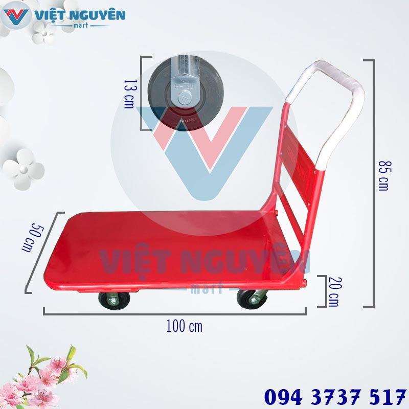 Thông số kỹ thuật xe đẩy hàng 4 bánh Phong Thạnh XTH 130T 300kg sàn nguyên tấm