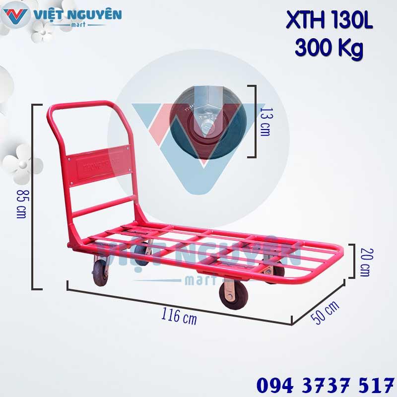 Thông số kỹ thuật xe đẩy hàng 4 bánh 300Kg Phong Thạnh XTH 130L chính hãng