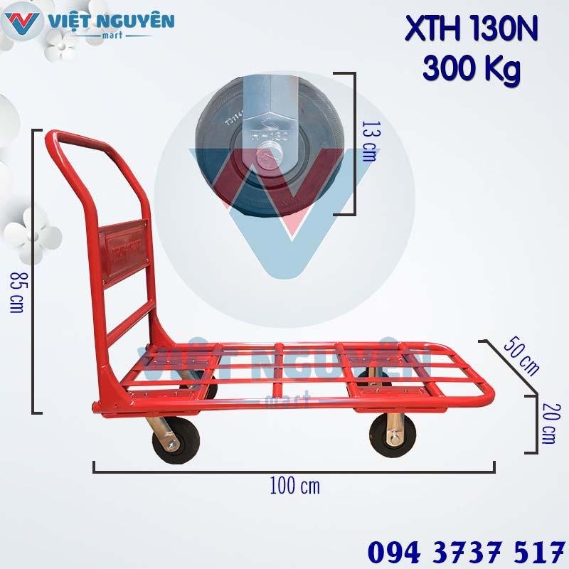 Thông số kỹ thuật xe đẩy hàng 4 bánh 300Kg Phong Thạnh XTH 130N chính hãng
