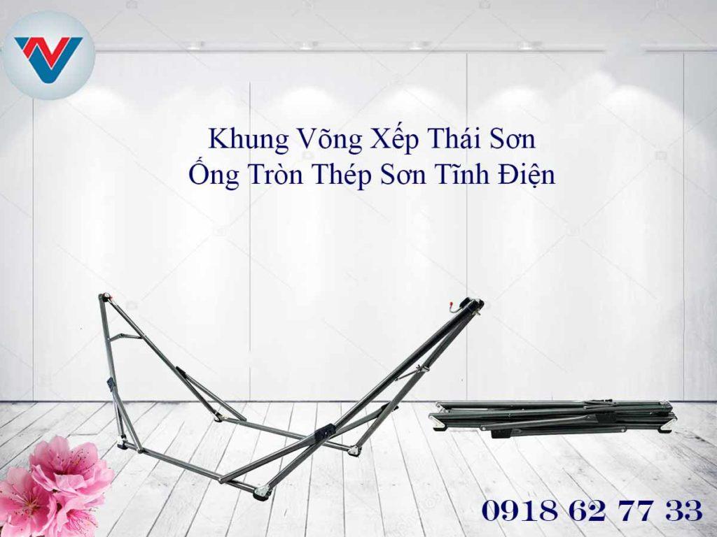 Võng Xếp Thái Sơn thép sơn tĩnh điện Ống Tròn cao cấp giá siêu rẻ