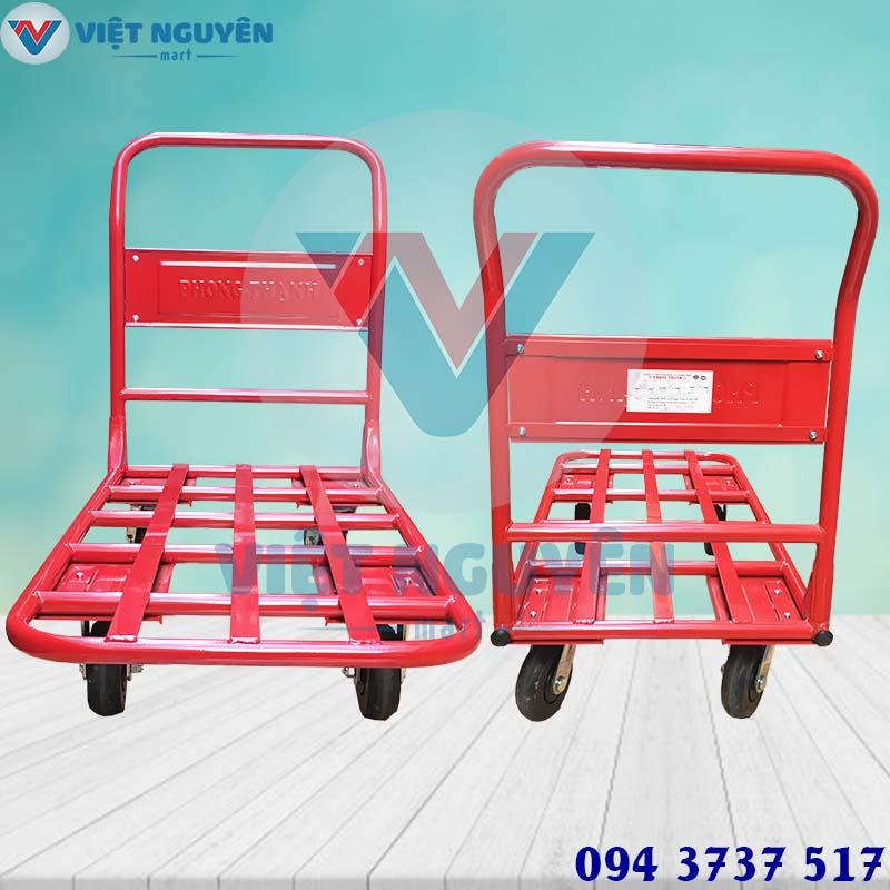 Ứng dụng xe đẩy hàng 4 bánh 300kg Phong Thạnh XTH 130N đa năng