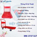 Thông số kỹ thuật xe đẩy hàng 4 bánh XTH 130T Phong Thạnh chính hãng