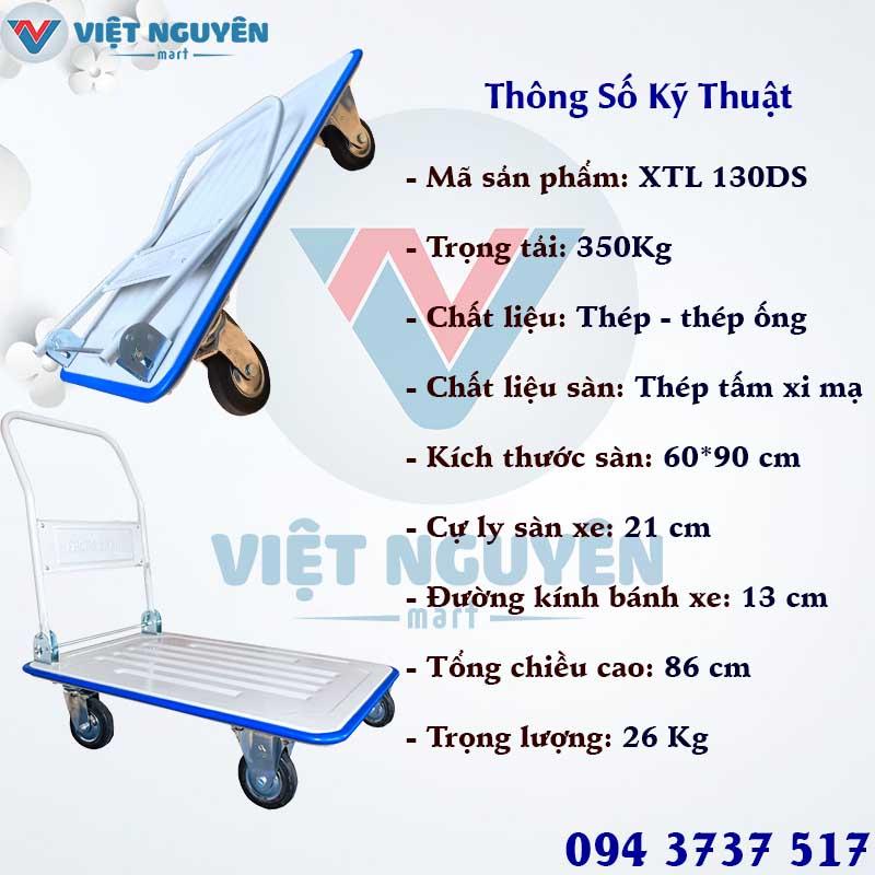 Đại lý phân phối xe đẩy hàng 4 bánh 350Kg Phong Thạnh XTL 130DS chính hãng giá tốt