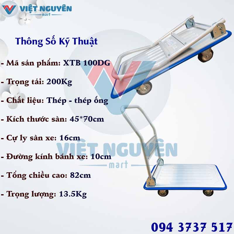 Tổng kho phân phối xe đẩy hàng 4 bánh Phong Thạnh 200 XTB 100DG Chính Hãng Giá Tốt