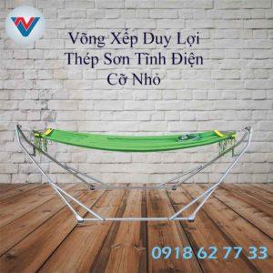 Bộ Võng Xếp Duy Lợi Khung Thép Sơn Tĩnh Điện Cỡ Nhỏ