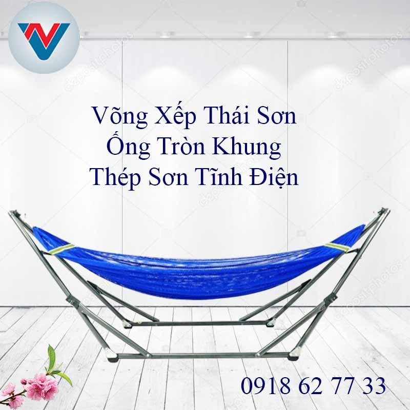 Võng Xếp Thái Sơn ống tròn thép Giá Rẻ Giao hàng siêu nhanh