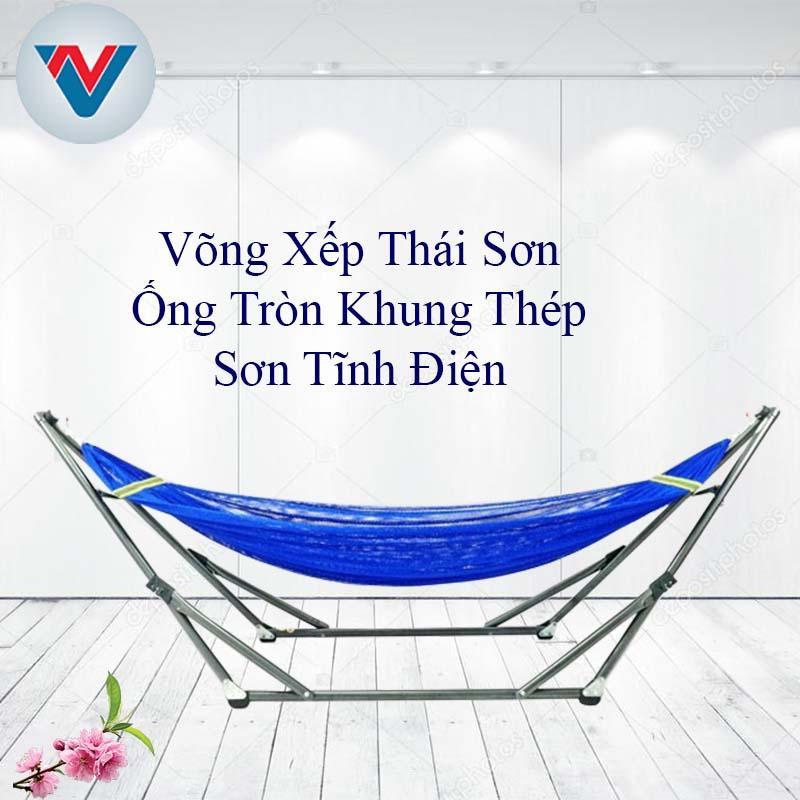 Võng Xếp Thái Sơn Ống Tròn Khung Thép Sơn Tĩnh Điện