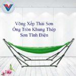 Võng Xếp Thái Sơn Ống Tròn Khung Thép Xanh Lá