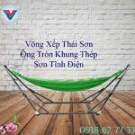 Võng Xếp Thái Sơn Ống Tròn Khung Thép Xanh Lá (2)