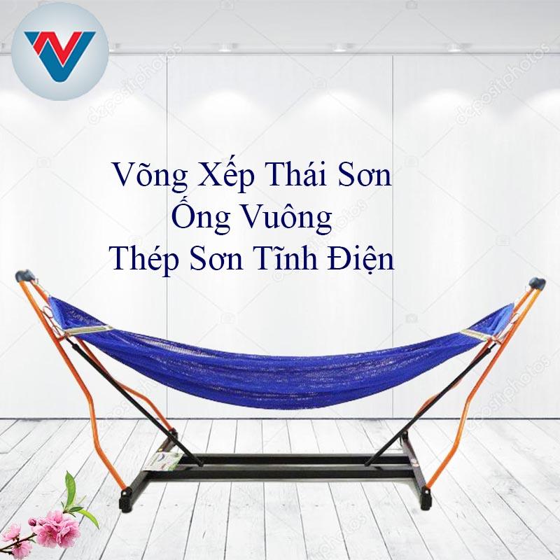 Bộ Võng Xếp Thái Sơn Ống Tròn khung thép cao cấp