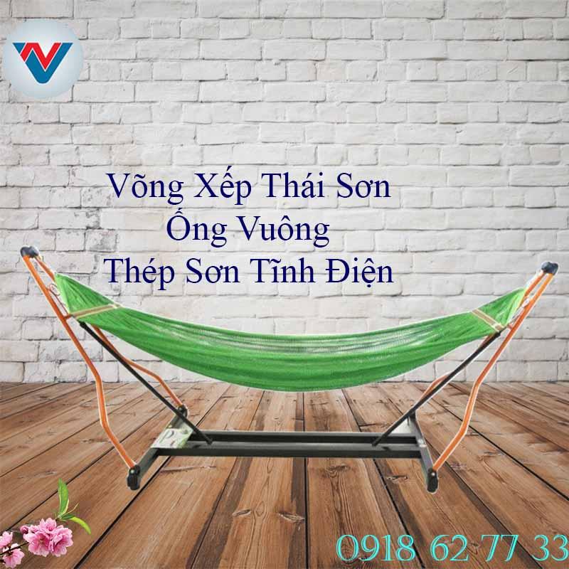 Võng Xếp Thái Sơn Thép Sơn Tĩnh Điện Ống Vuông Giá Rẻ