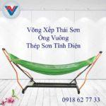 Võng Xếp Thái Sơn Ống Vuông Khung Thép Xanh Lá (2)