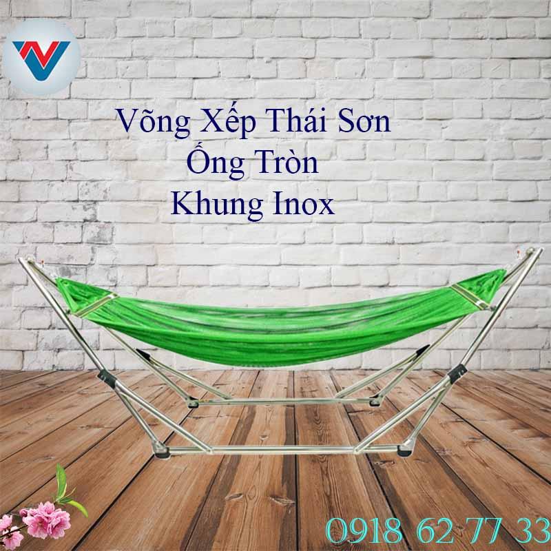 Võng xếp Thái Sơn Ống tròn cao cấp Inox giá rẻ