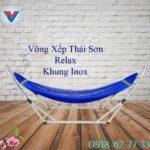 Võng Xếp Thái Sơn Relax Khung Inox Xanh Dương (2)