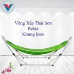 Võng Xếp Thái Sơn Relax Khung Inox Xanh Lá