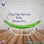 Võng Xếp Thái Sơn Relax Khung Inox Xanh Lá (2)