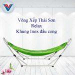 Võng Xếp Thái Sơn Relax khung inox đầu cong xanh lá