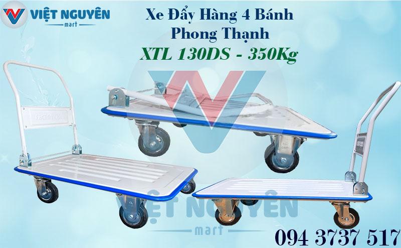 Xe Đẩy Hàng 4 Bánh Phong Thạnh XTL 130DS 350Kg Gập Gọn Đa Năng