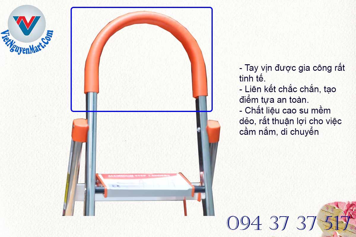 Tay vịn thang nhôm ghế chắn chắn cứng cáp thích hợp sử dụng tại nhiều không gian