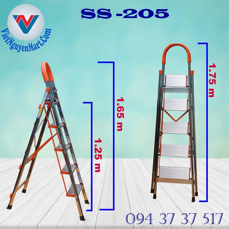 thang nhôm ghế SS -205 giá rẻ giao nhanh 2h