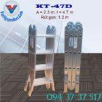 Thang nhôm gấp 4 đoạn Kagami KT -47D (2)