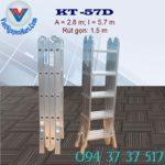 Thang nhôm gấp 4 đoạn Kagami KT -57D (2)