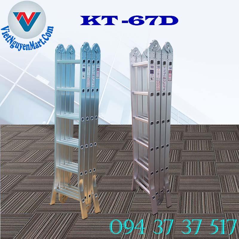 thang nhôm gấp xếp 4 đoạn Kagami Nhật Bản đa năng 6.7m mẫu KT -67D tại Hồ Chí Minh