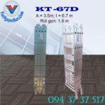 Thang nhôm gấp 4 đoạn Kagami KT -67D (2)