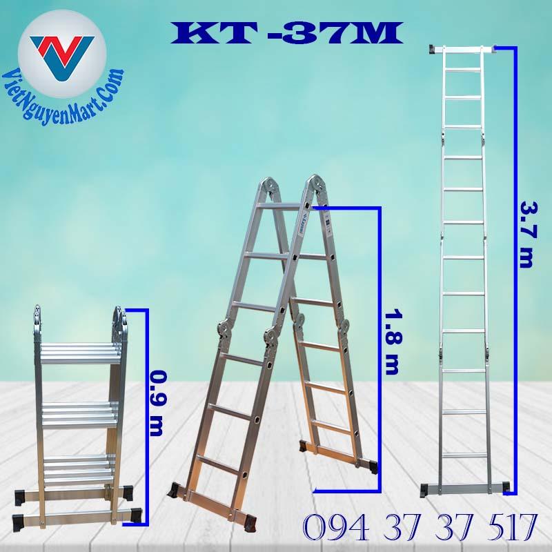 thông số Thang Nhôm Gấp Xếp Đa Năng Kagami 3.7m