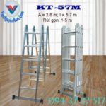 Thang nhôm gấp xếp 4 đoạn Kagami KT -57M (3)