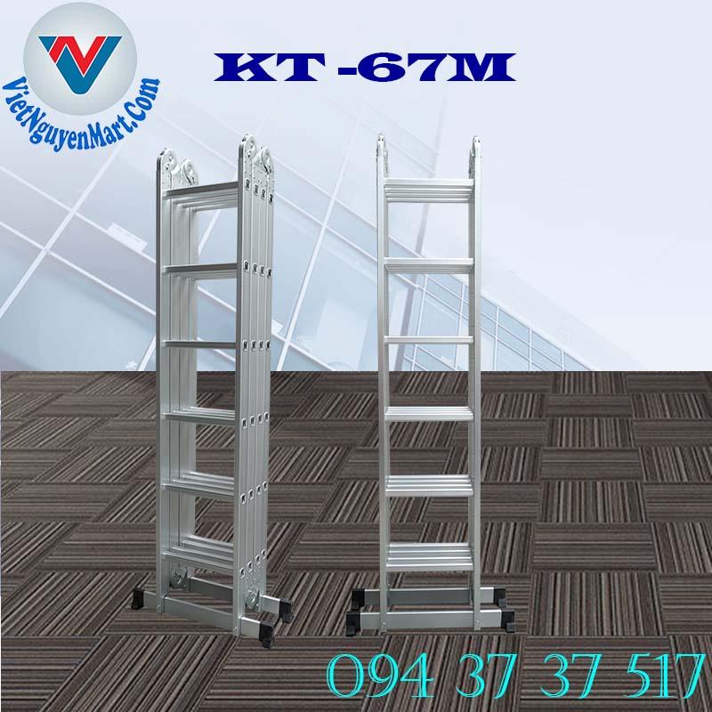 thang nhôm gấp xếp 4 đoạn Kagami Nhật Bản đa năng 6.7m mẫu KT -67M tại Hồ Chí Minh
