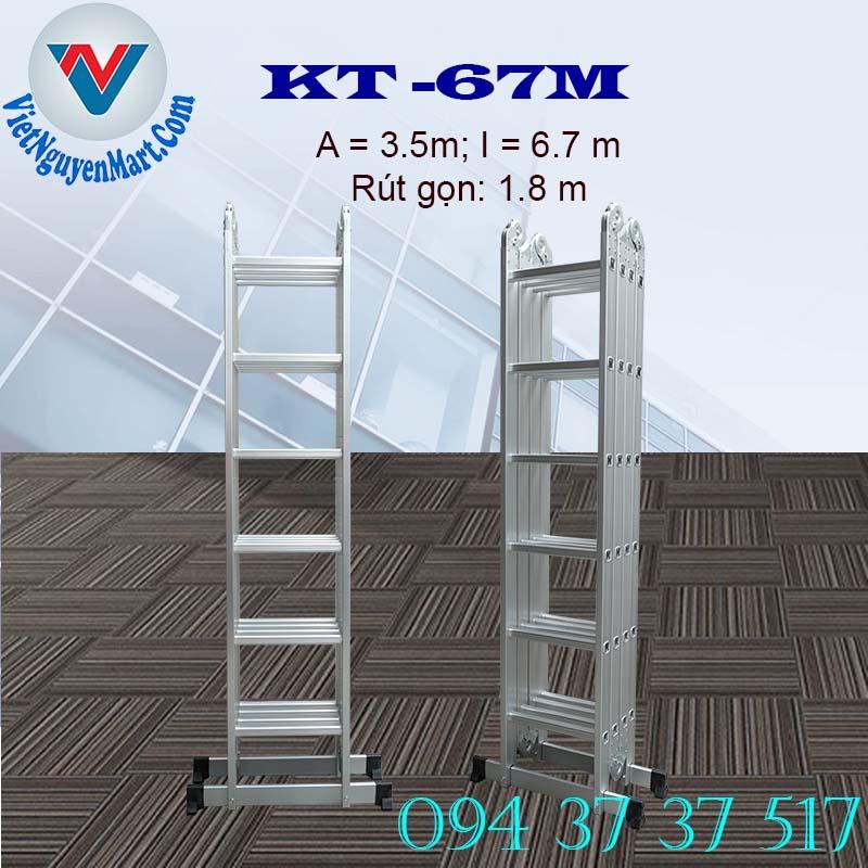 Ứng dụng thang nhôm gấp xếp 4 đoạn Kagami
