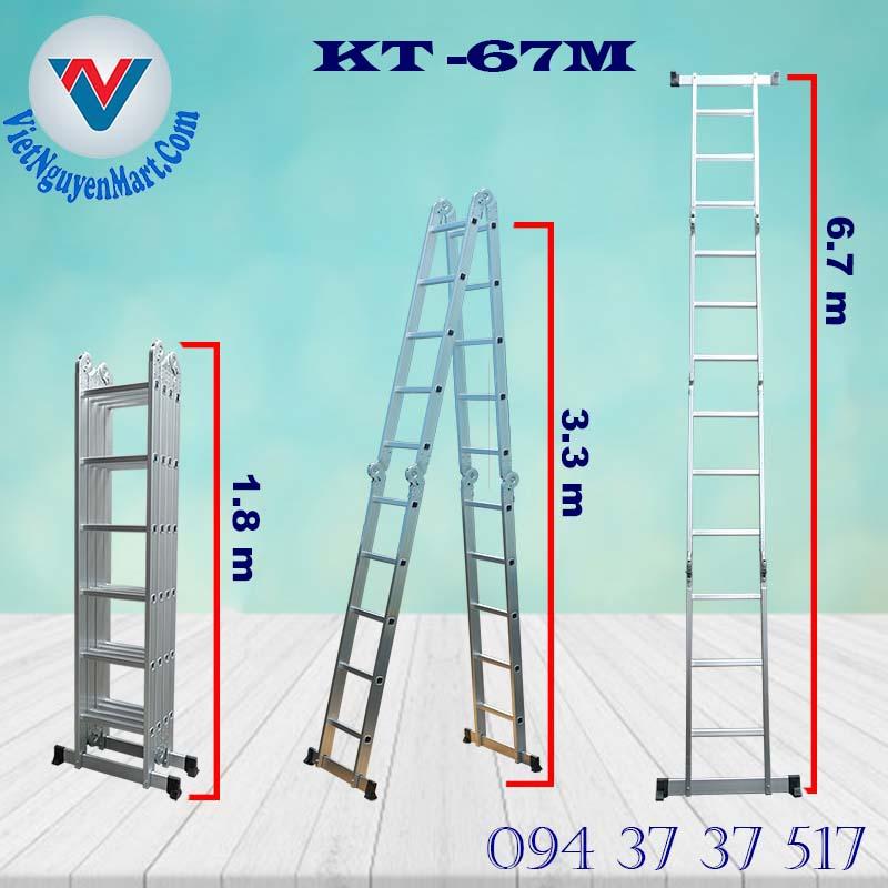 thông số Thang Nhôm Gấp Xếp Đa Năng Kagami 6.7m