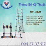 Thang nhôm rút đôi Kagami KT -38AI 3,8m (6)