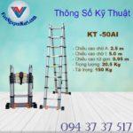 Thang nhôm rút đôi Kagami KT -50AI 5,0m (6)