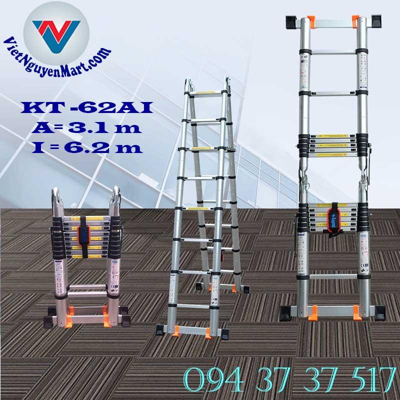 Thang Nhôm Rút Đôi Chữ A Kagami 6.2m