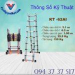Thang nhôm rút đôi Kagami KT -62AI 6,2m (6)
