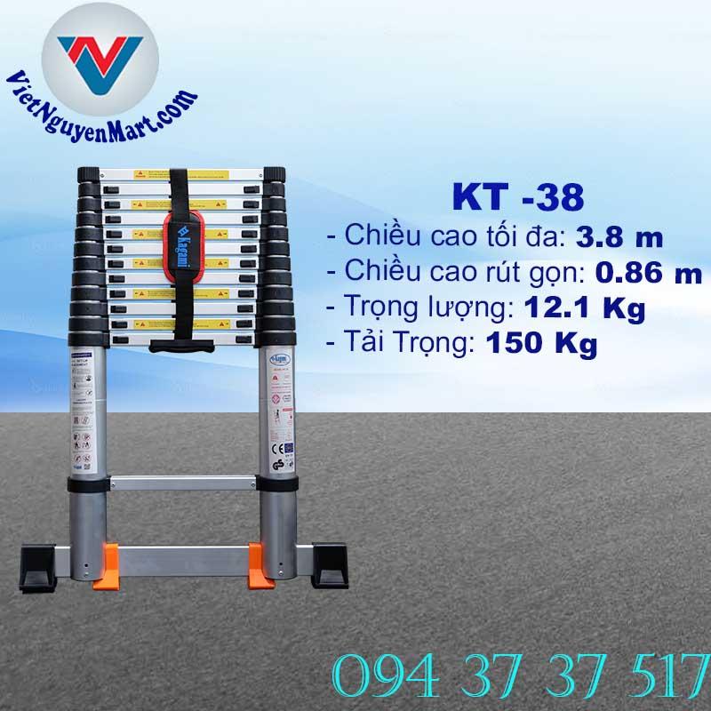 Thang Nhôm Rút Gọn 3.8m