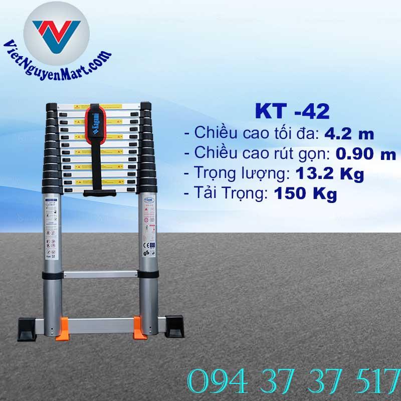 Thang Nhôm Rút Gọn 4.2m