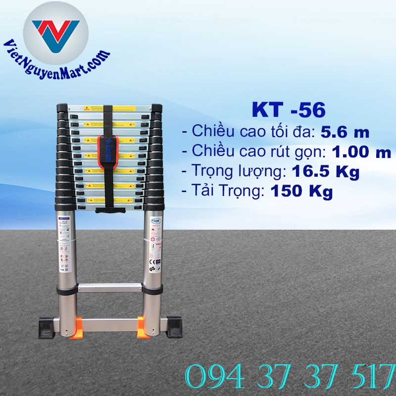 Thang Nhôm Rút Gọn 5.6m