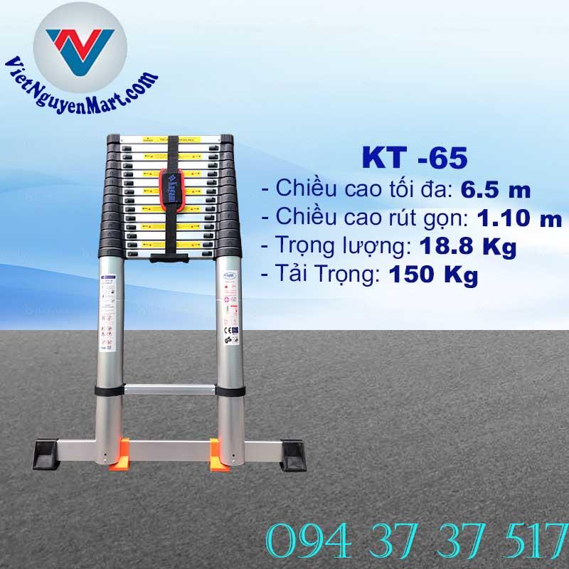 Thang Nhôm Rút Gọn 6.5m